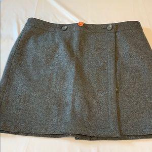 Ann Taylor LOFT wool blend mini skirt size 14